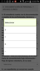 Sistema Integral de Automatización del Proceso de Verificación Sanitaria - COFEPRIS-Android APP-Pantalla de actas 08